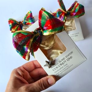 NEW Coconut Lime Christmas Gift Pack of 2 Soaps Handcrafted Made in Australia